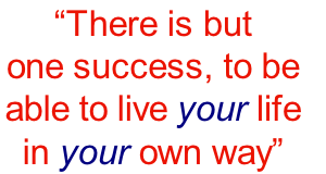 """There is but 